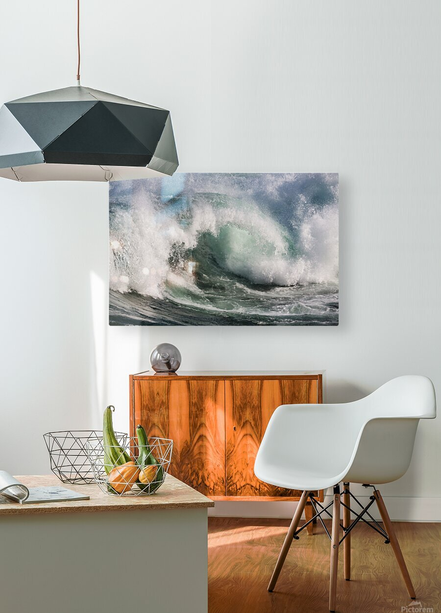 Wave Curl ap 2674  HD Metal print with Floating Frame on Back