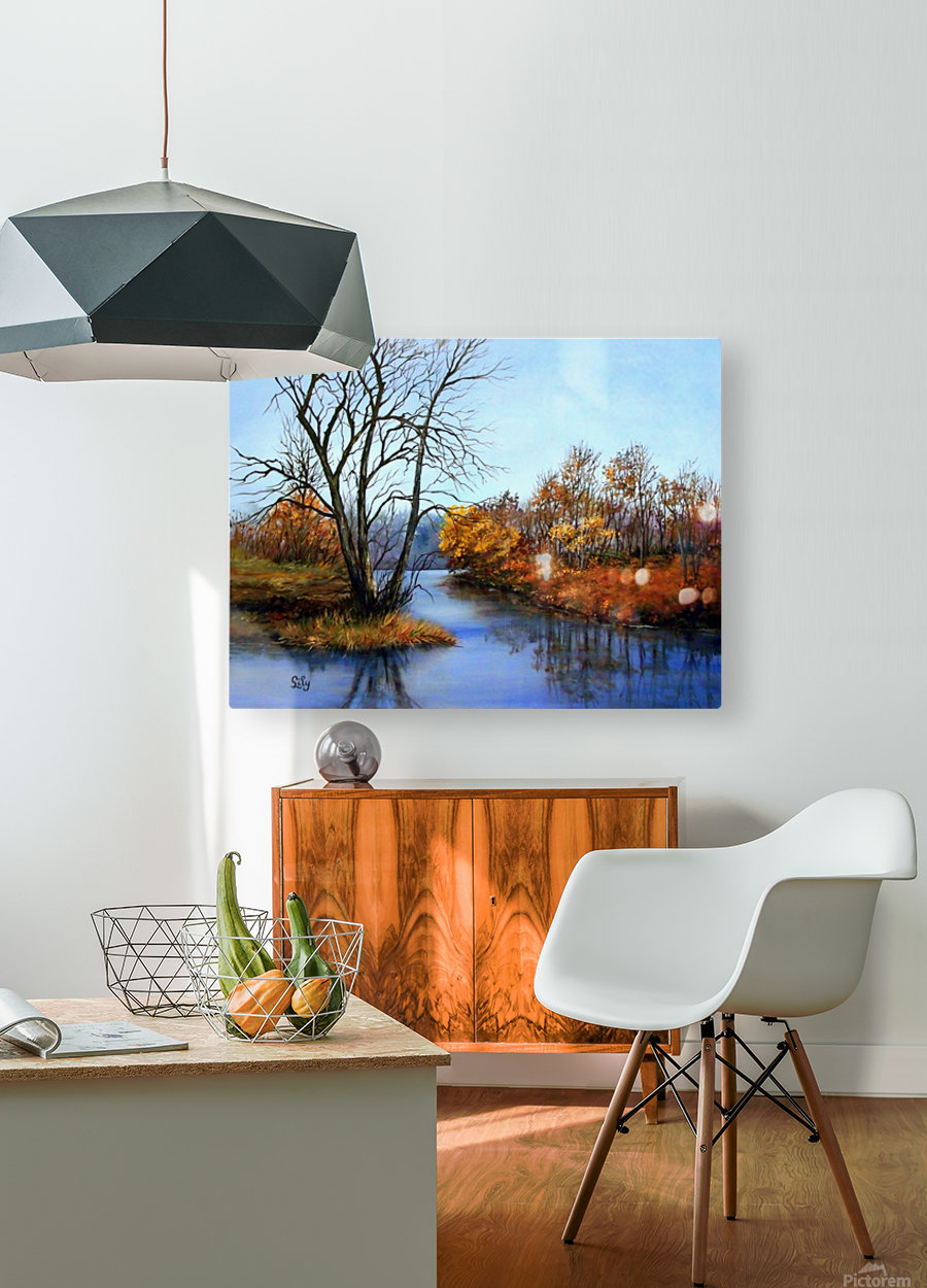Autumns End  HD Metal print with Floating Frame on Back