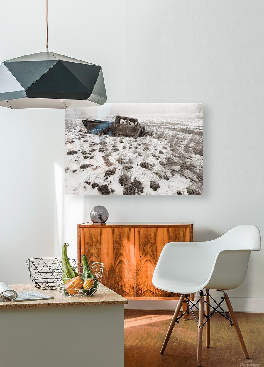 Step Side ap 1734 B&W  HD Metal print with Floating Frame on Back