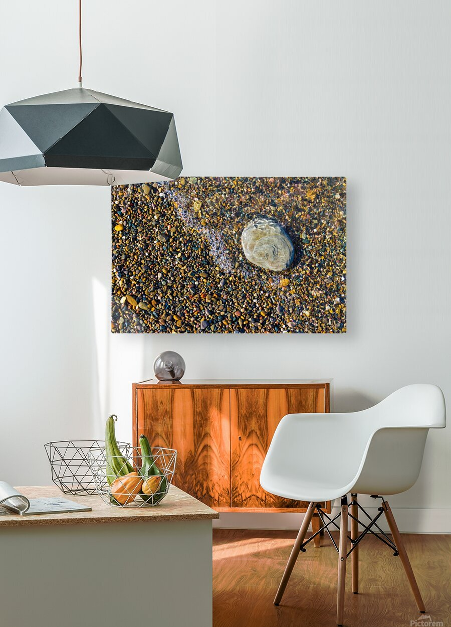 Pebble ap 1599  HD Metal print with Floating Frame on Back