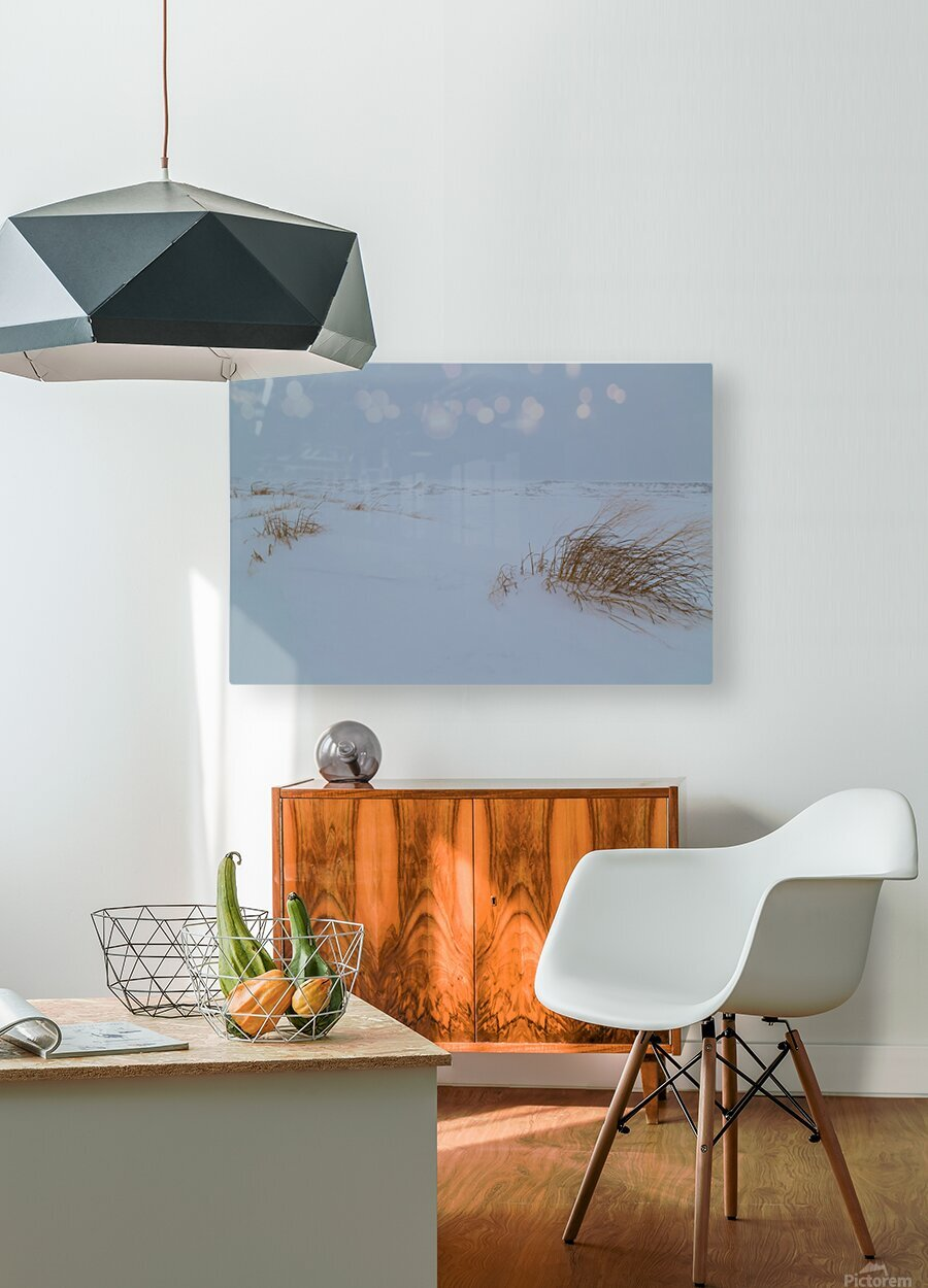 Ice Dunes ap 1987  HD Metal print with Floating Frame on Back