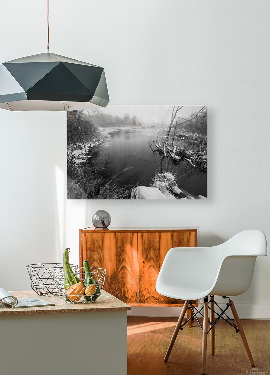 Snow Storm ap 2706  HD Metal print with Floating Frame on Back