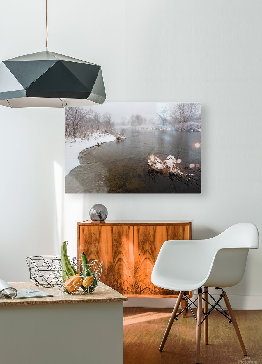 Snow Storm ap 2710  HD Metal print with Floating Frame on Back