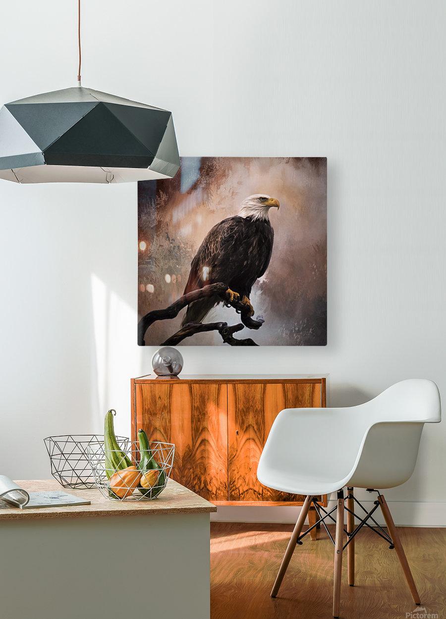 Looking Forward - Eagle Art by Jordan Blackstone  HD Metal print with Floating Frame on Back