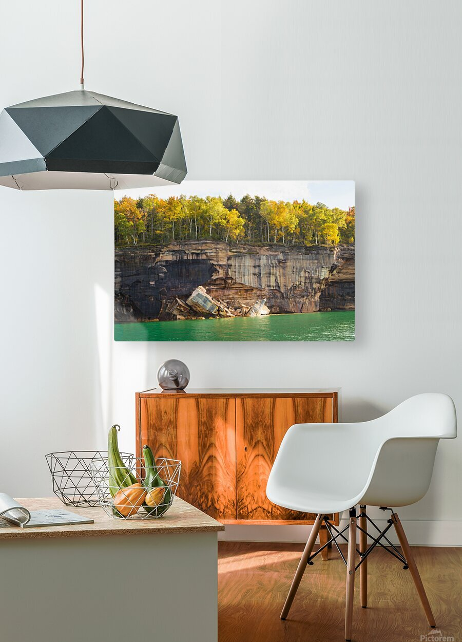 Pictured Rocks ap 2503  HD Metal print with Floating Frame on Back