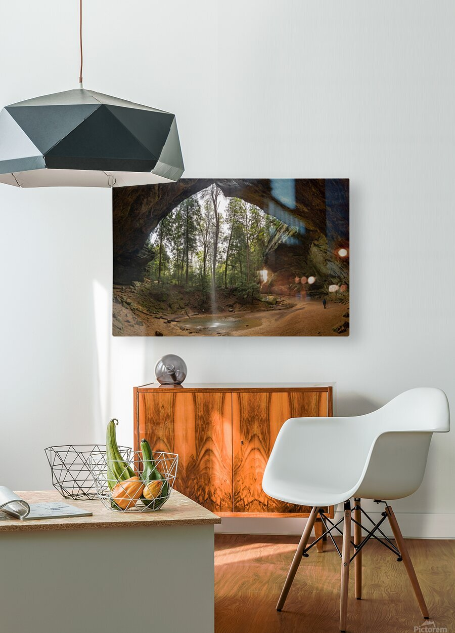 Ash Cave apmi 1648  HD Metal print with Floating Frame on Back