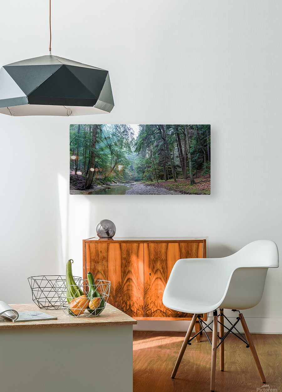 Queer Creek apmi 1638  HD Metal print with Floating Frame on Back