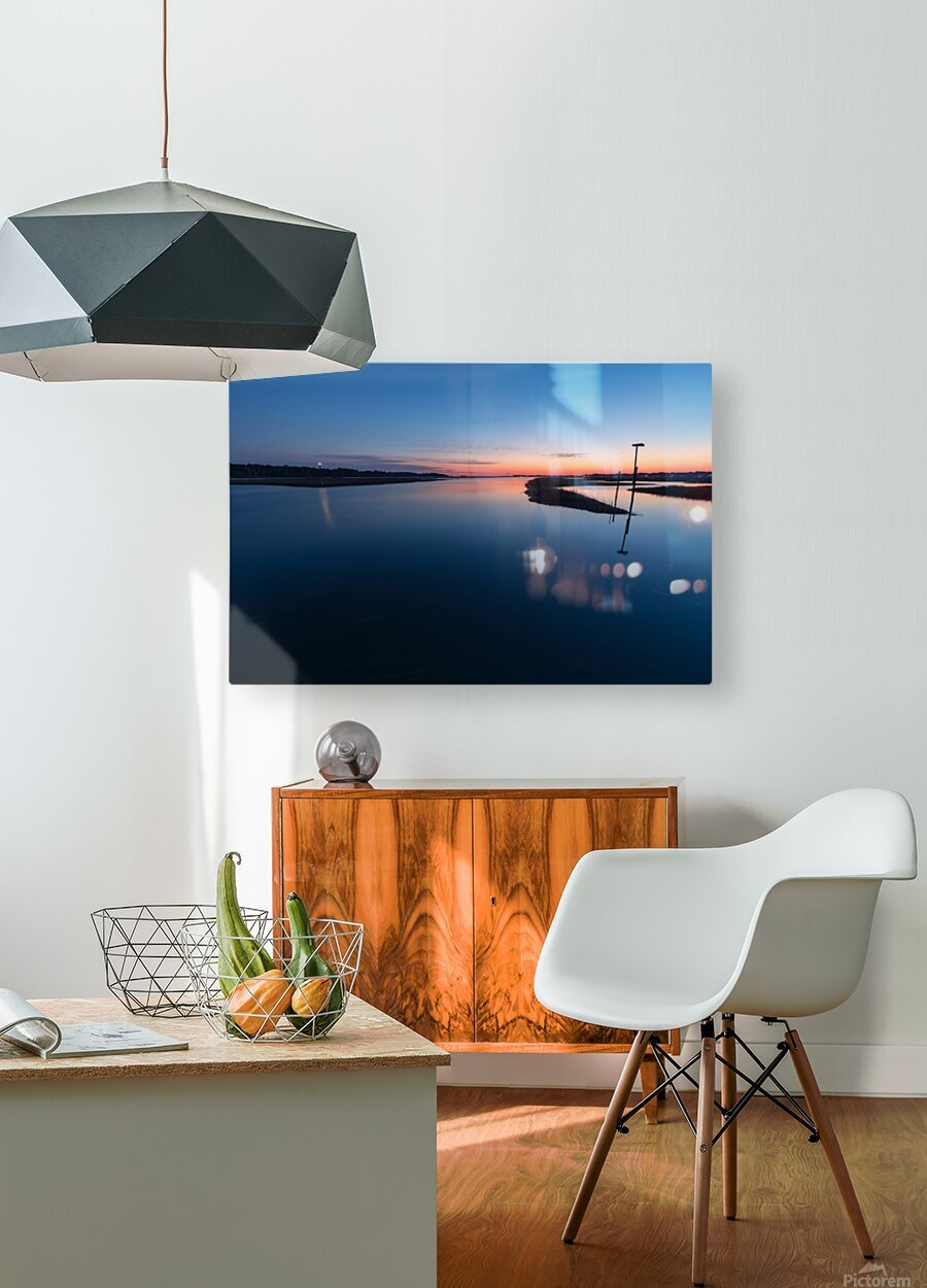 Assateague Light ap 2763  HD Metal print with Floating Frame on Back
