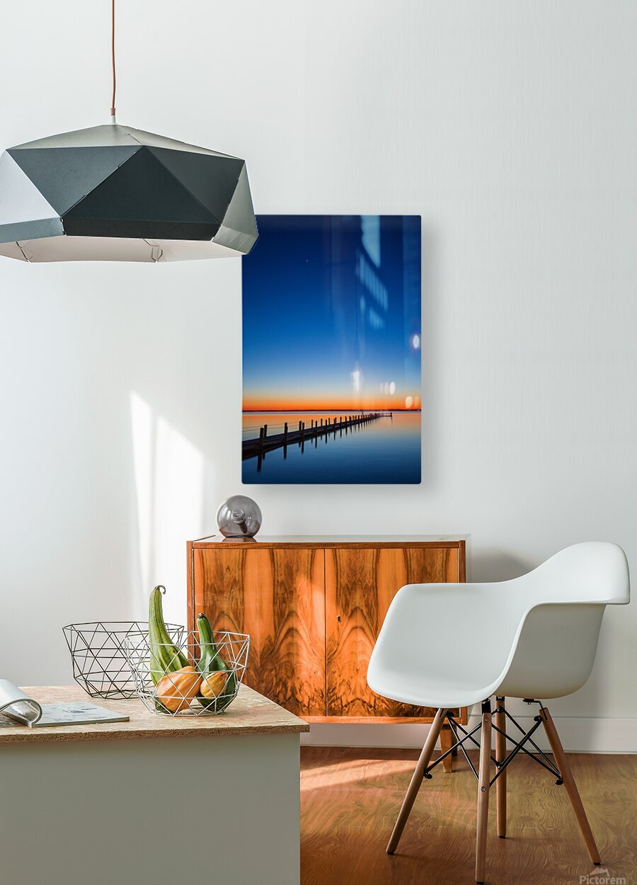 Twilight Sunset ap 1607  HD Metal print with Floating Frame on Back