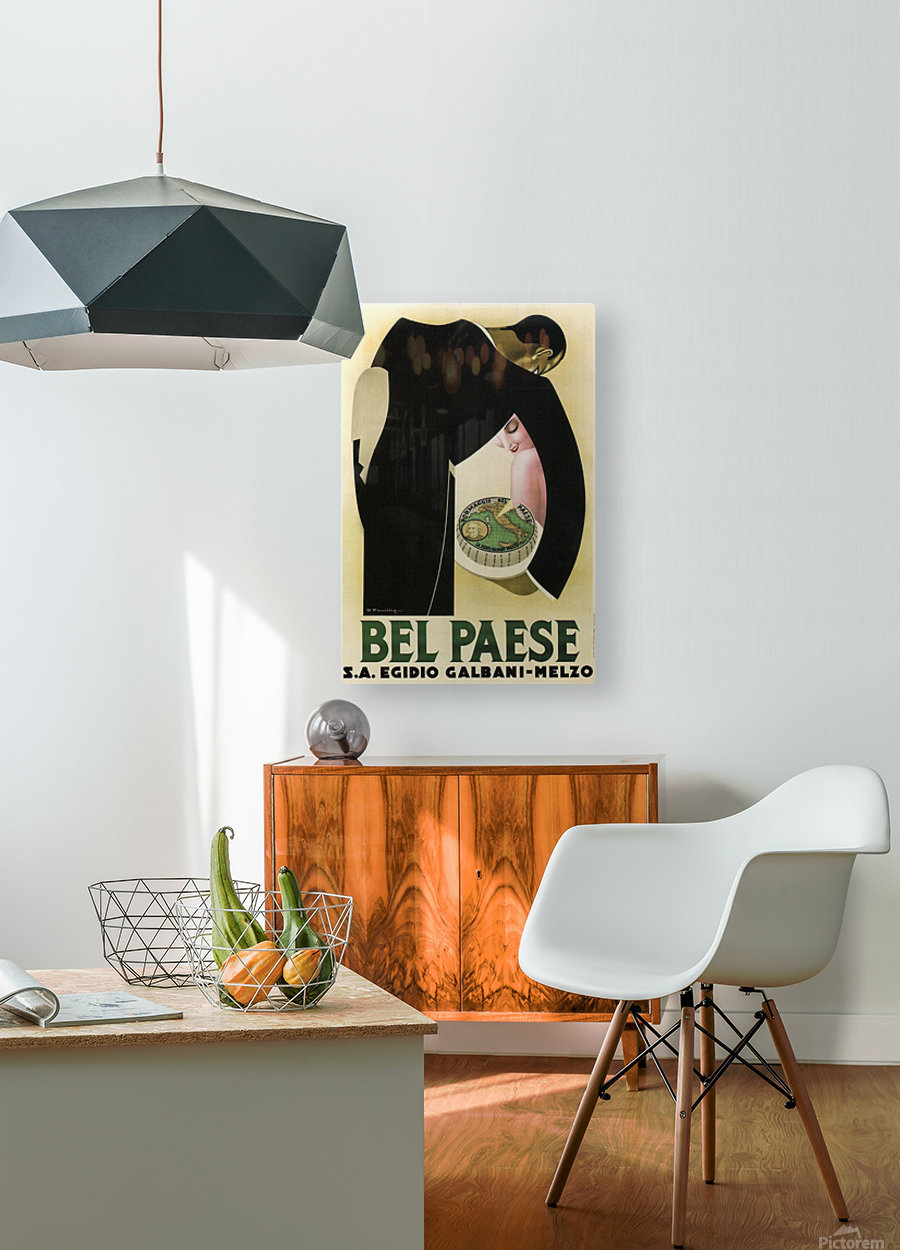 Bel Paese  HD Metal print with Floating Frame on Back