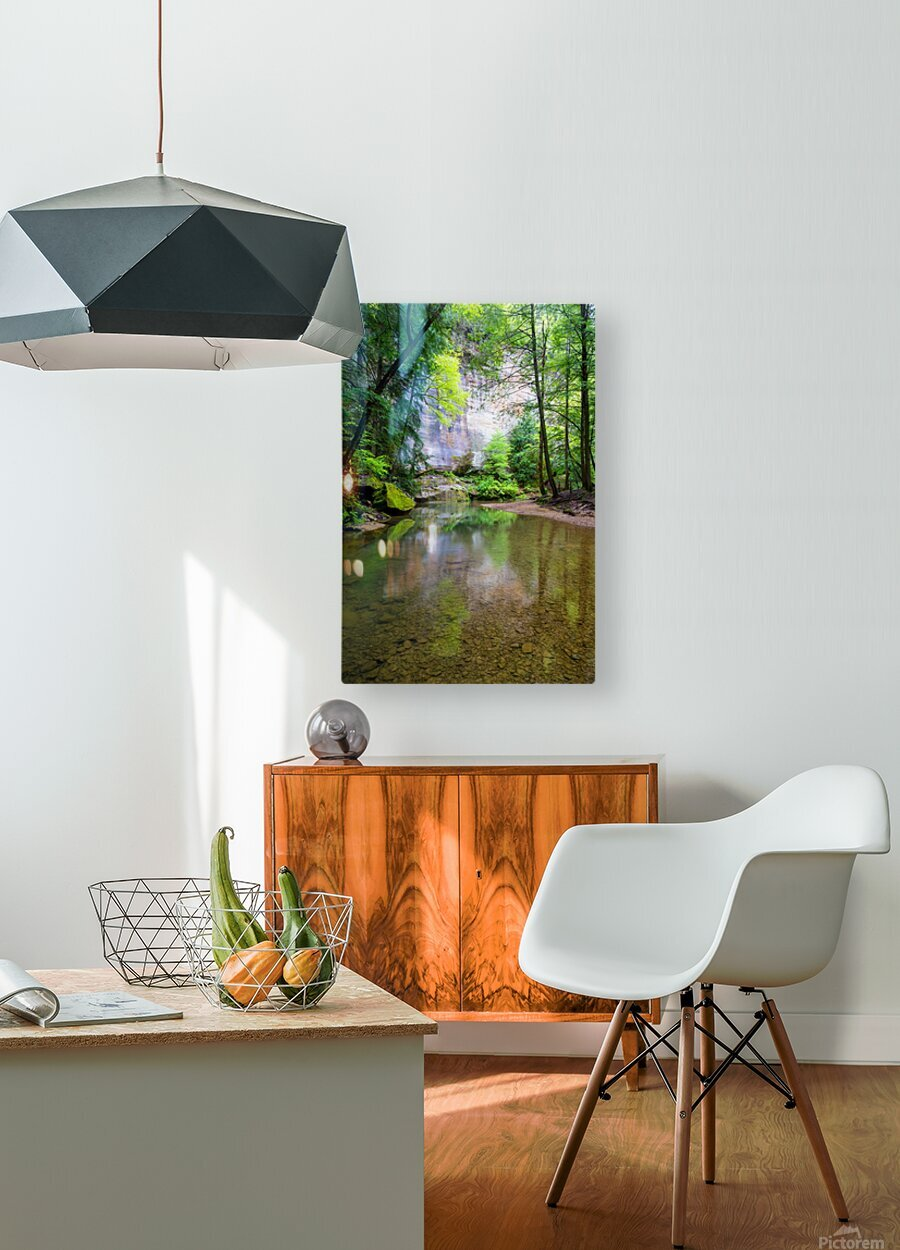 Queer Creek ap 2060  HD Metal print with Floating Frame on Back