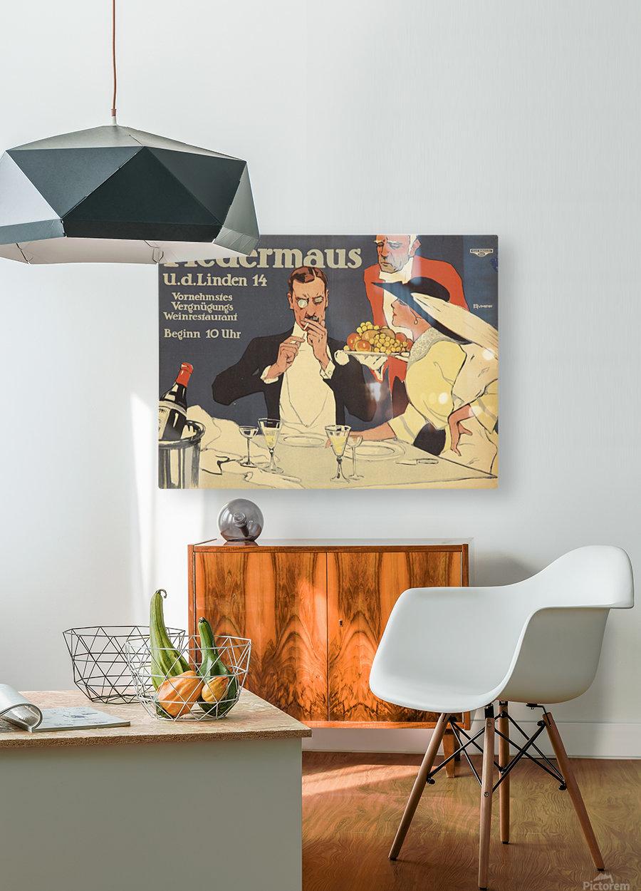 Fledermaus  HD Metal print with Floating Frame on Back