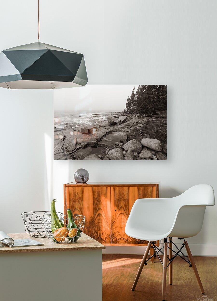 Boulders ap 2256 B&W  HD Metal print with Floating Frame on Back