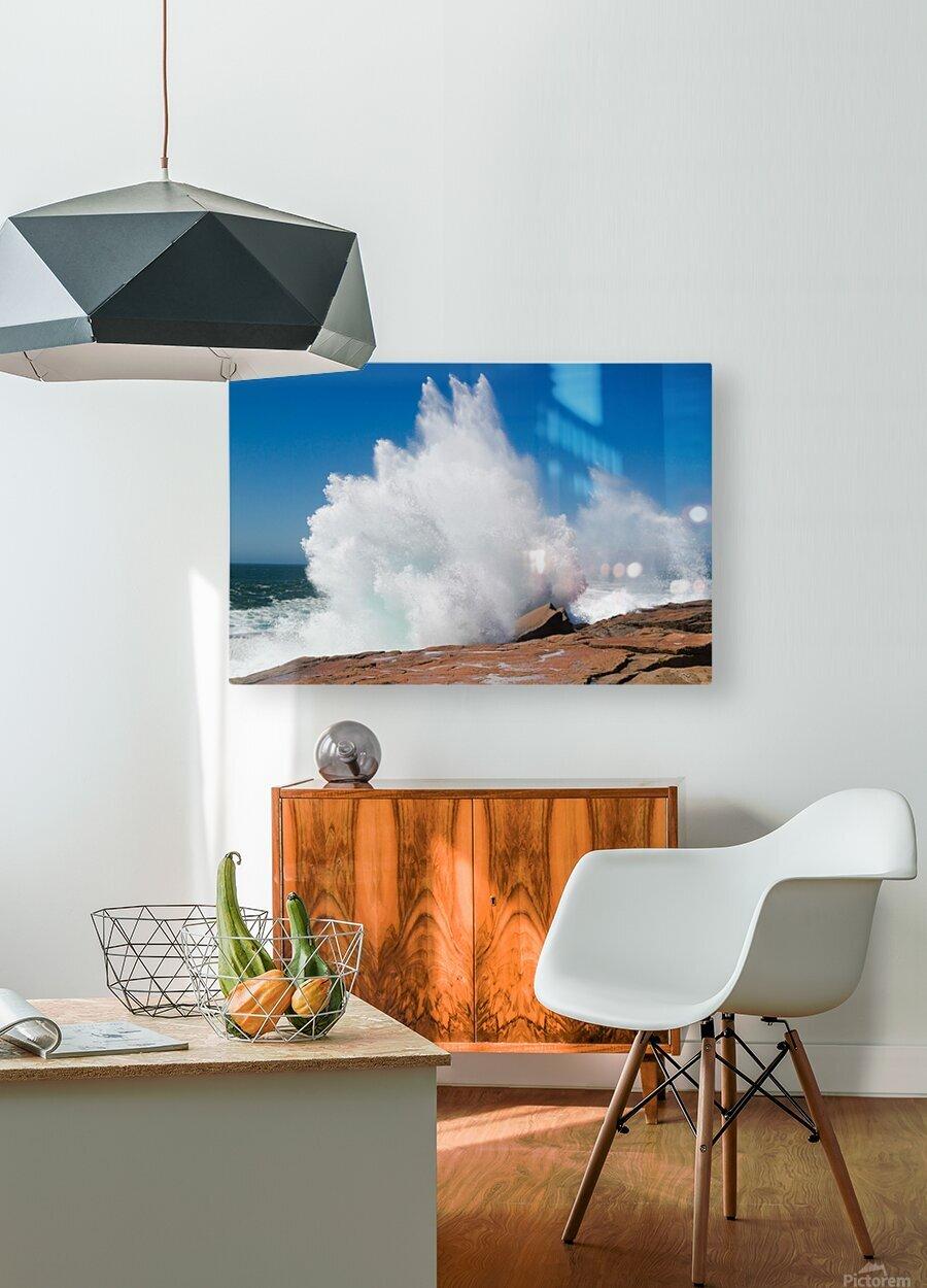 Crashing Wave ap 2320  HD Metal print with Floating Frame on Back