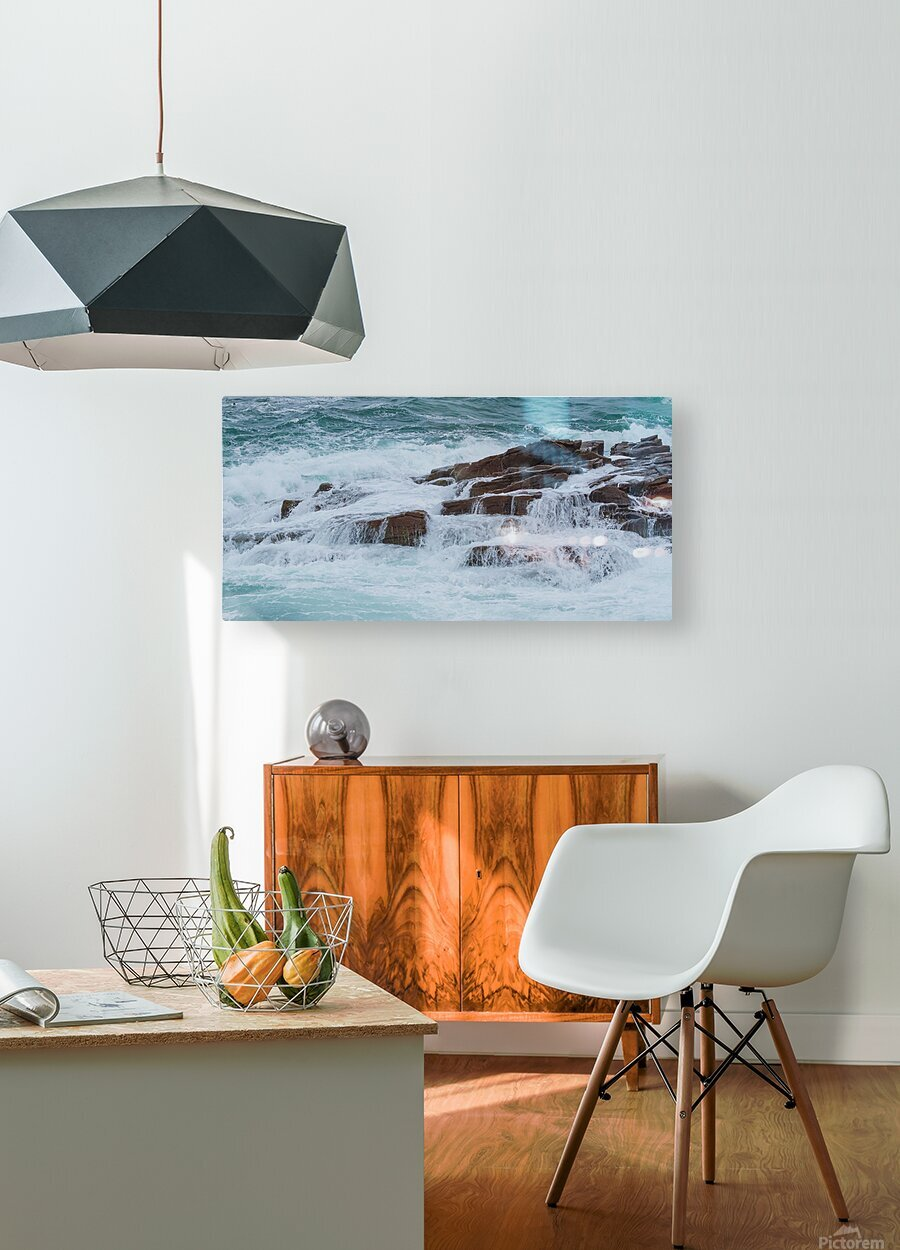 Crashing Waves ap 1535  HD Metal print with Floating Frame on Back