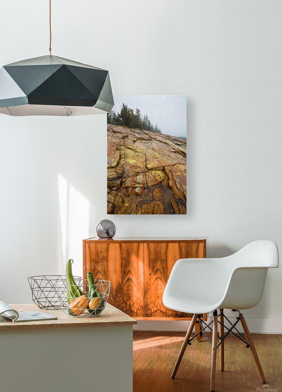 Granite Rock ap 2285  HD Metal print with Floating Frame on Back