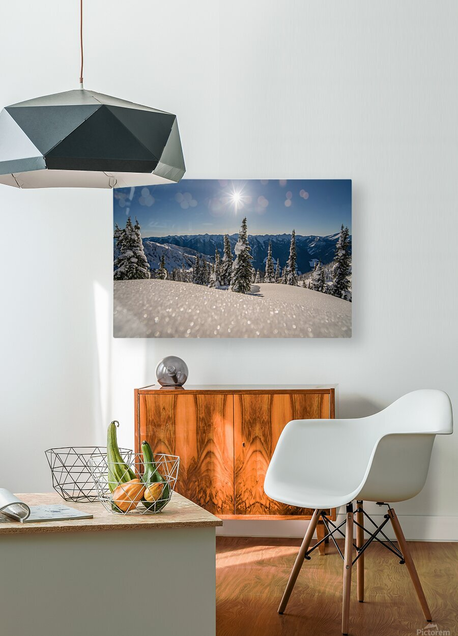 Mid winter blues  HD Metal print with Floating Frame on Back