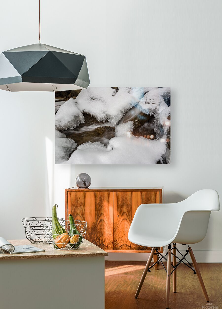 Ice ap 2726 B&W  HD Metal print with Floating Frame on Back