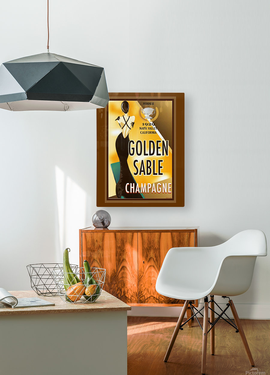 Golden Stable Champagne  HD Metal print with Floating Frame on Back