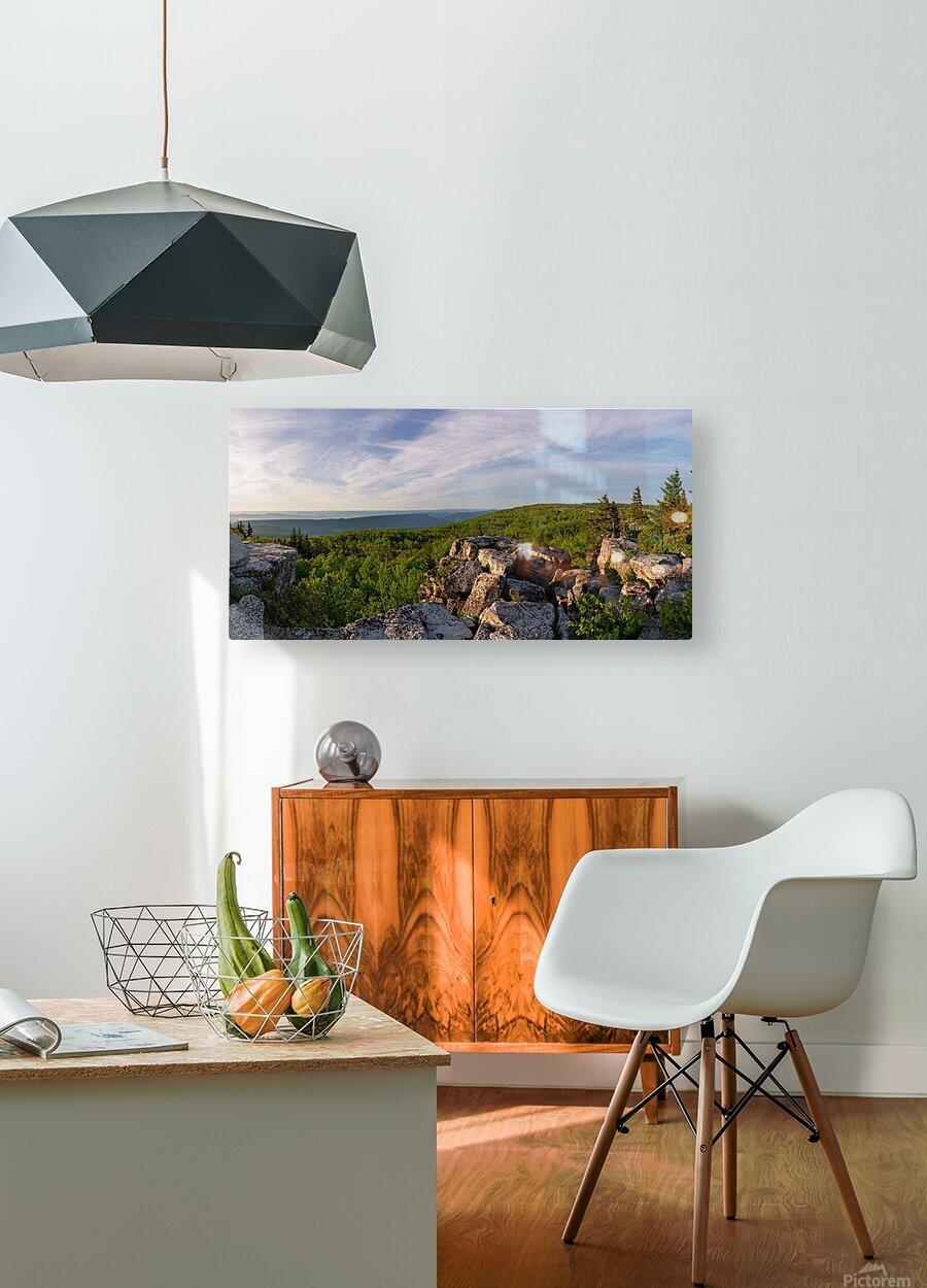 Bear Rocks at Sunrise apmi 1714  HD Metal print with Floating Frame on Back