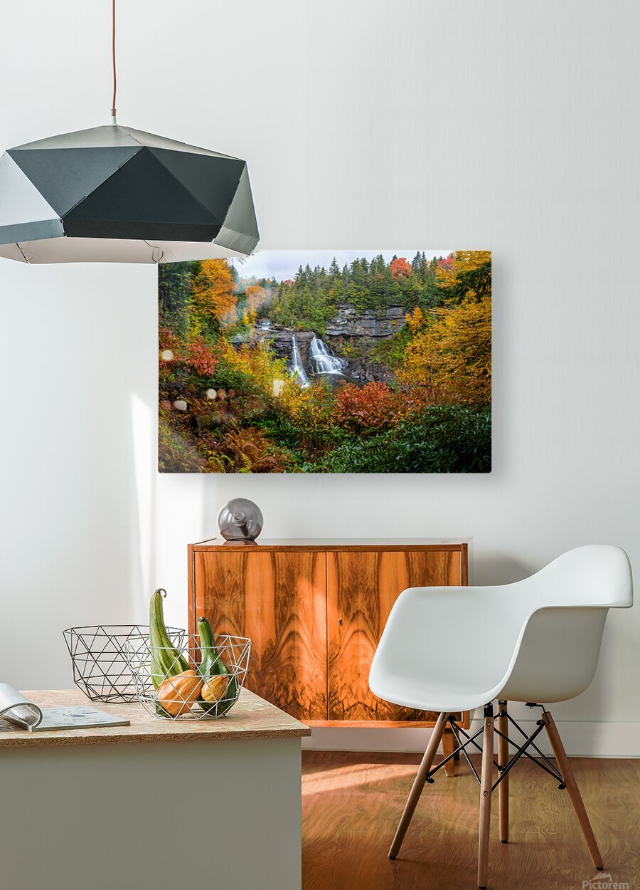 Blackwater Falls apmi 1904  HD Metal print with Floating Frame on Back