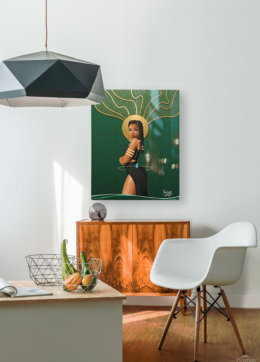 The Curve 2  HD Metal print with Floating Frame on Back