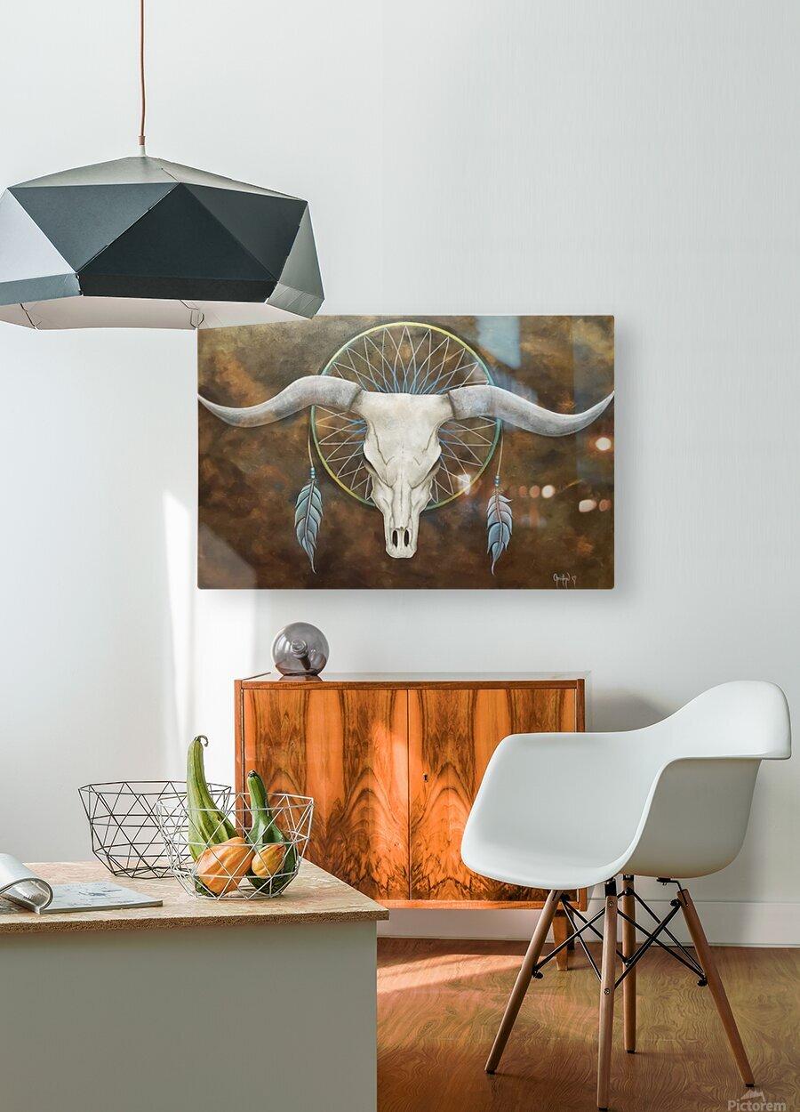 Sacred   HD Metal print with Floating Frame on Back