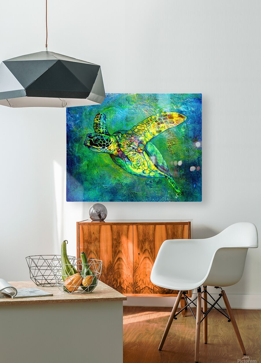 Silent Journey  HD Metal print with Floating Frame on Back