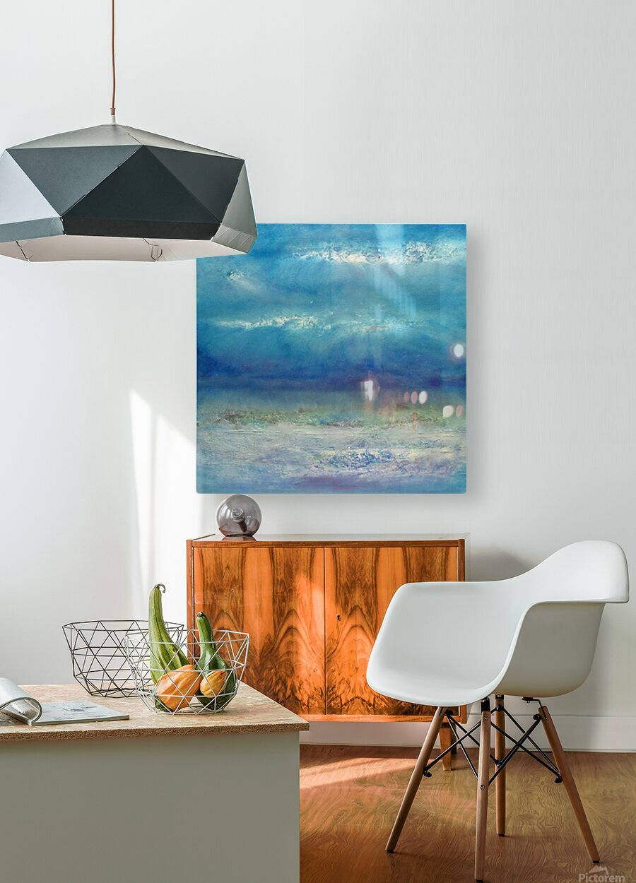 Infinity Beyond The Blue  HD Metal print with Floating Frame on Back