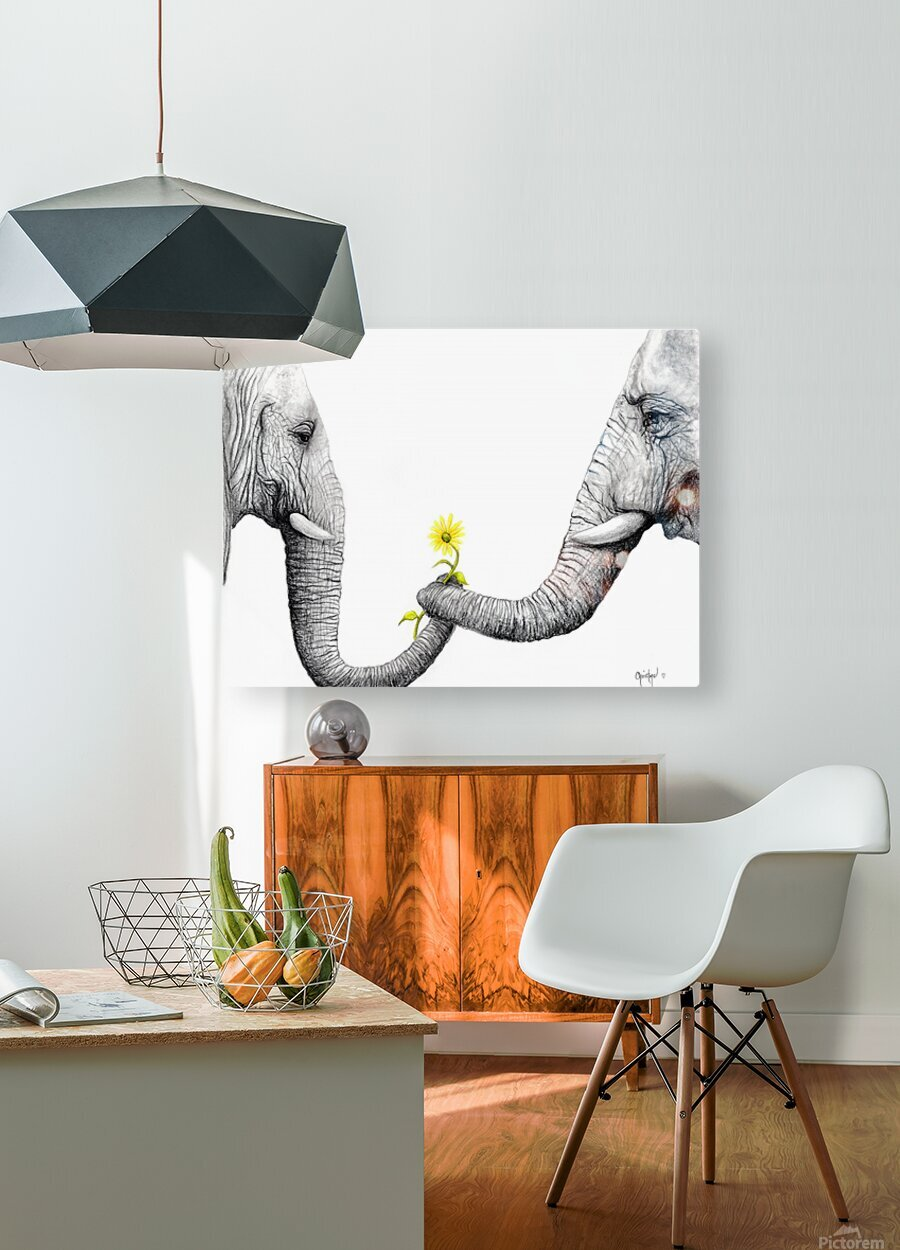 Up Close You Are More Wrinkly Than I Remember   HD Metal print with Floating Frame on Back