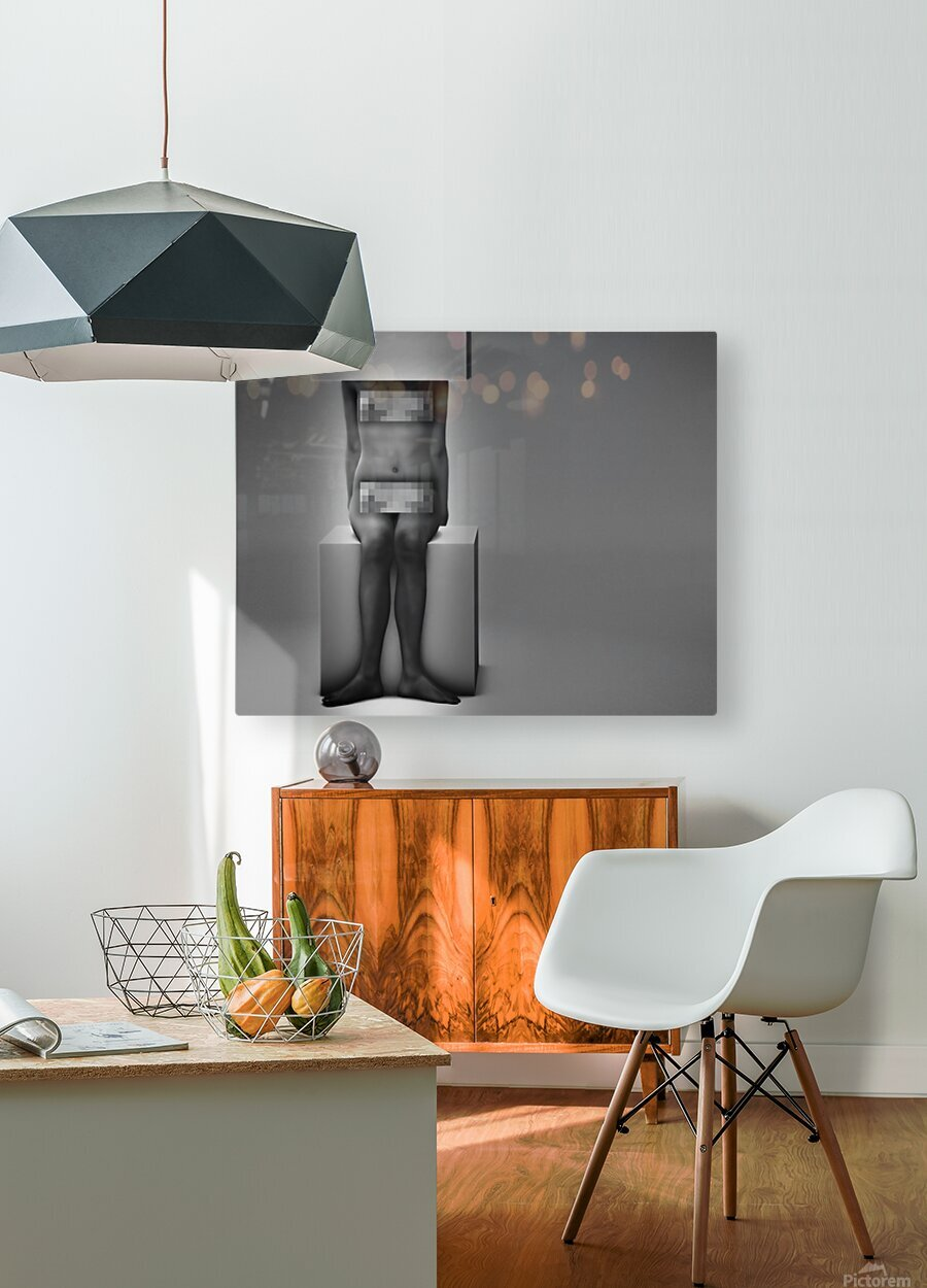 Life In A Box 1Illusion Contemplation   HD Metal print with Floating Frame on Back