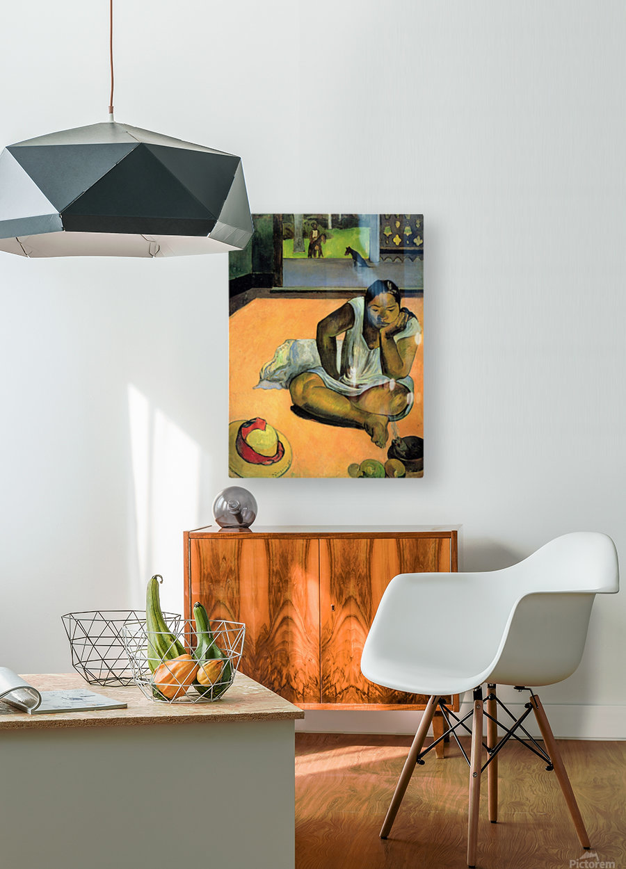 Te Faaturama by Gauguin  HD Metal print with Floating Frame on Back
