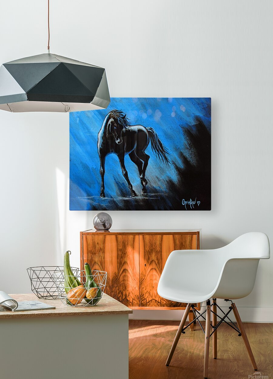 Midnight Blue   HD Metal print with Floating Frame on Back