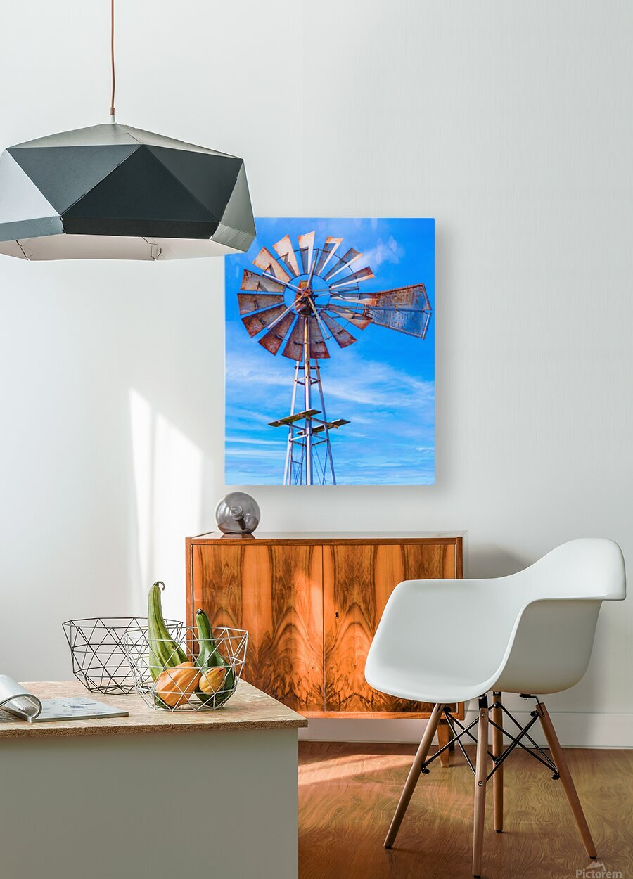 Uncle Sams Windmill  HD Metal print with Floating Frame on Back