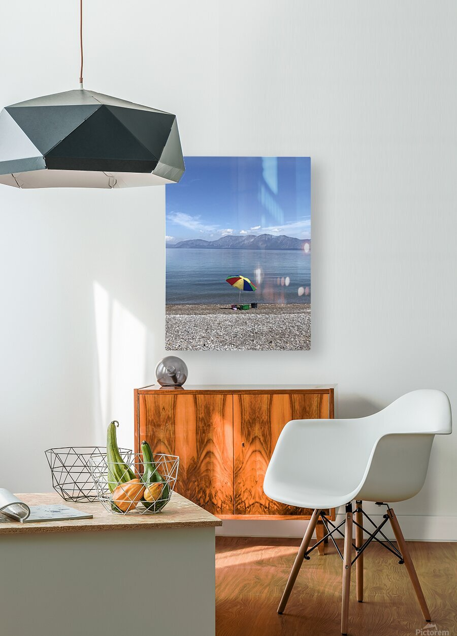 Greece the view of Evia  HD Metal print with Floating Frame on Back