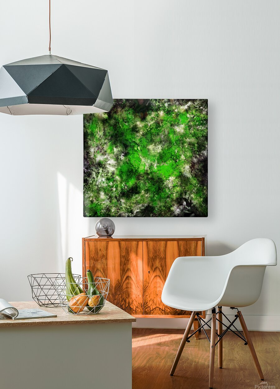 Green noise  HD Metal print with Floating Frame on Back