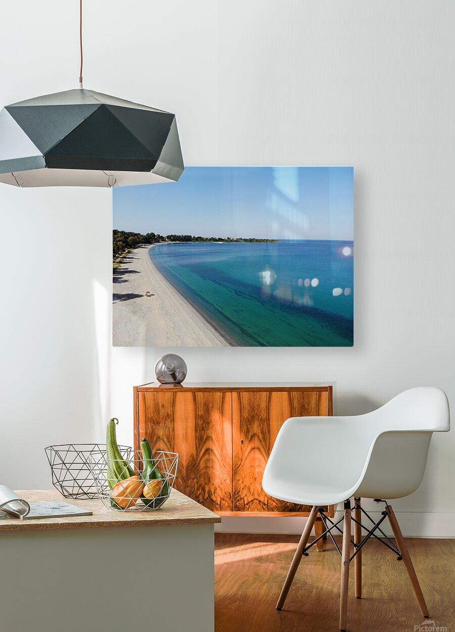 Greece coast near Lefkada  HD Metal print with Floating Frame on Back