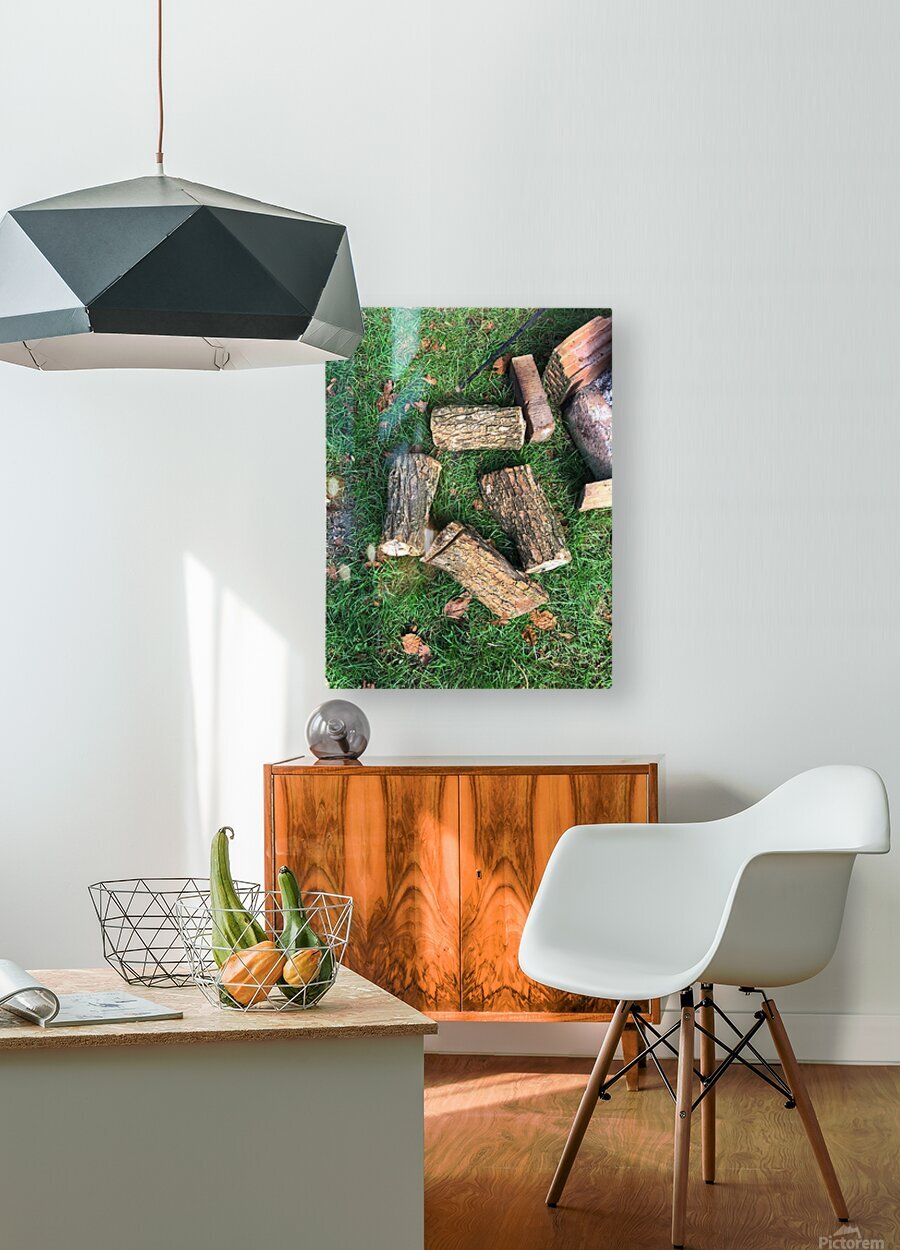 wood for fire  HD Metal print with Floating Frame on Back