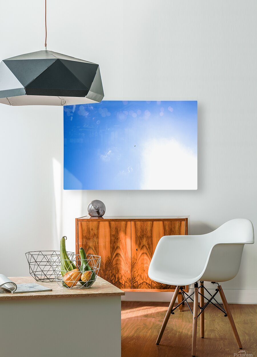 Into the Sun  HD Metal print with Floating Frame on Back