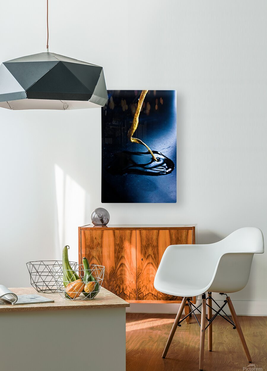 Gentle Blue Touch  HD Metal print with Floating Frame on Back