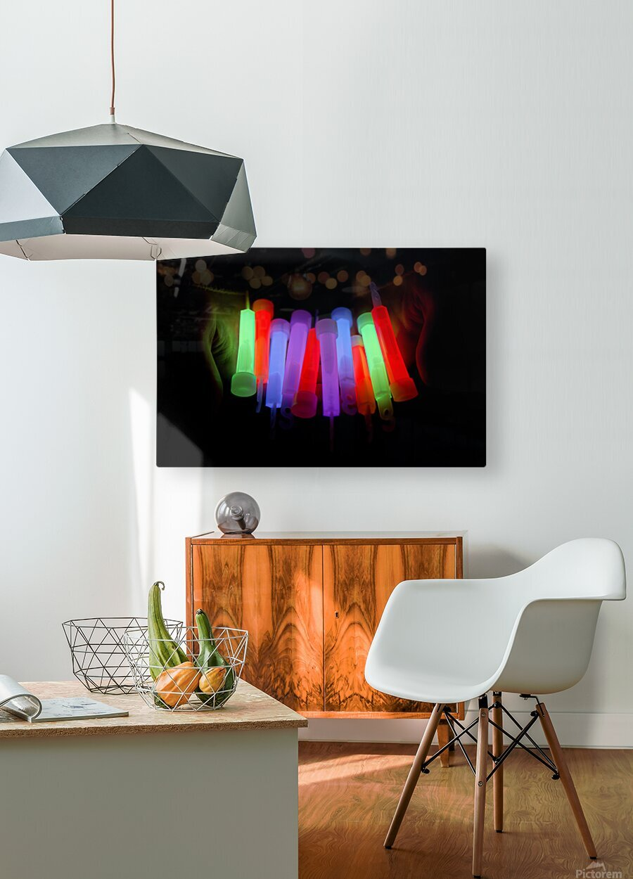 Lightstick  HD Metal print with Floating Frame on Back