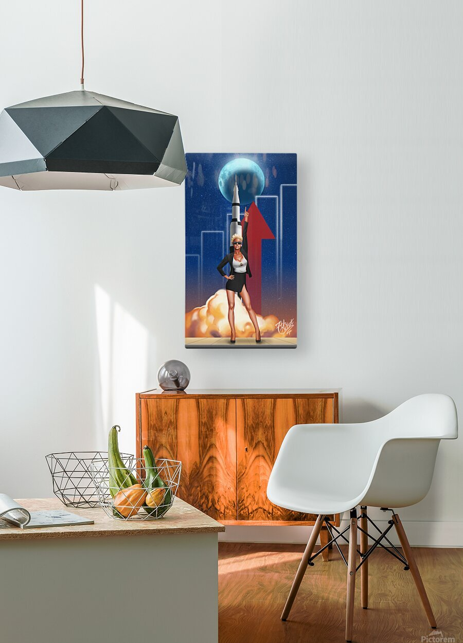 TO THE MOON  HD Metal print with Floating Frame on Back
