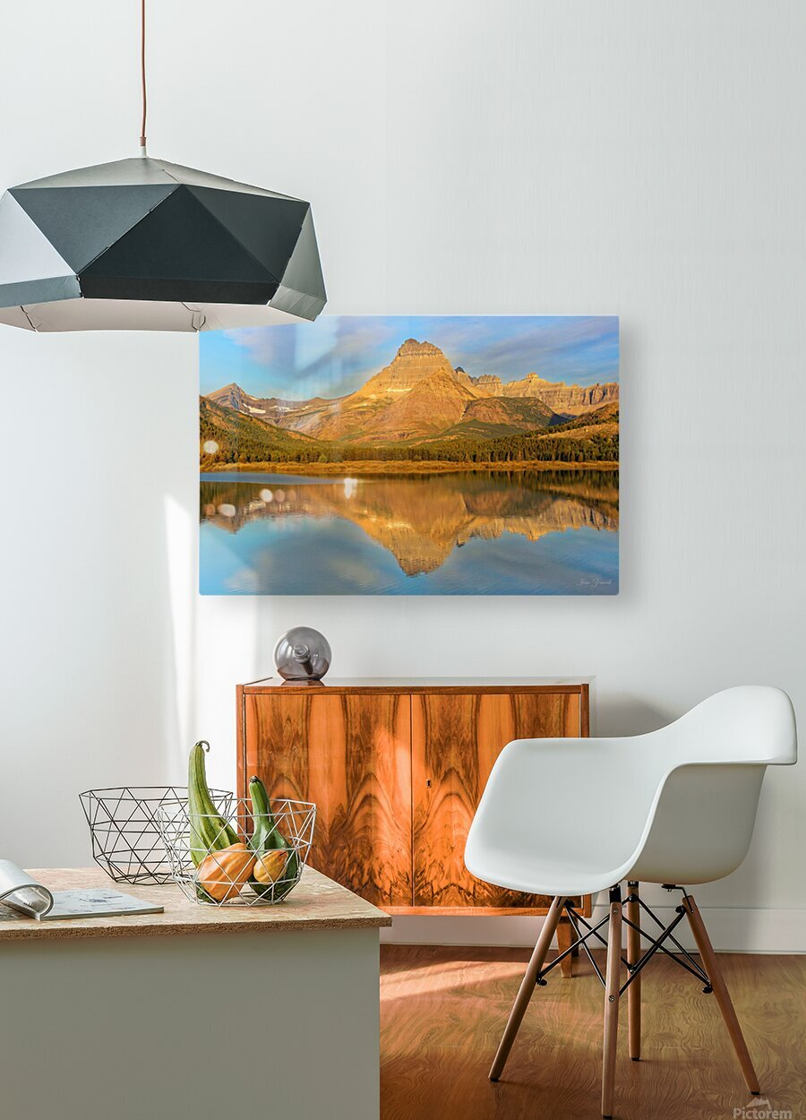 Glacier National Park Montana  HD Metal print with Floating Frame on Back
