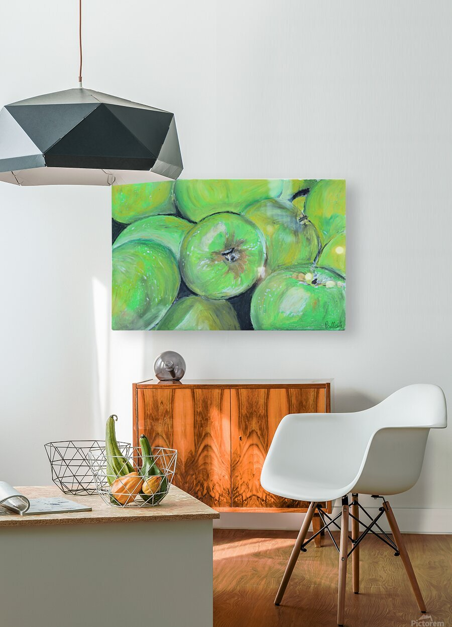 Apples  HD Metal print with Floating Frame on Back