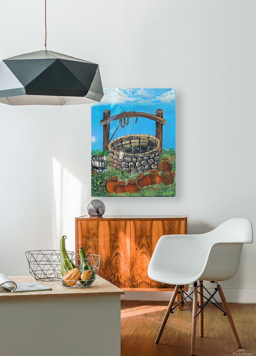 A lonely well  HD Metal print with Floating Frame on Back