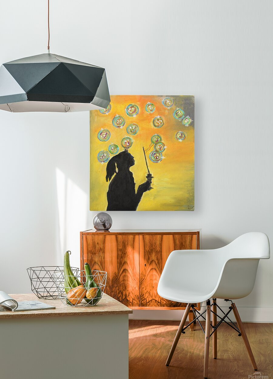 bubbles  HD Metal print with Floating Frame on Back