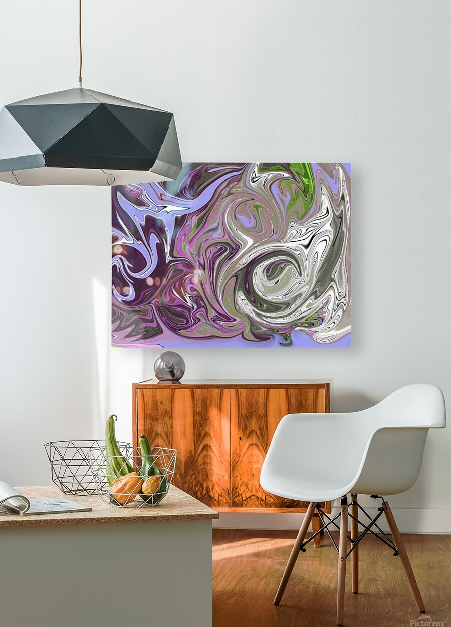 Number 16 Pour  HD Metal print with Floating Frame on Back