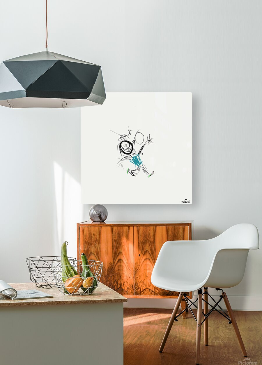 happy  HD Metal print with Floating Frame on Back