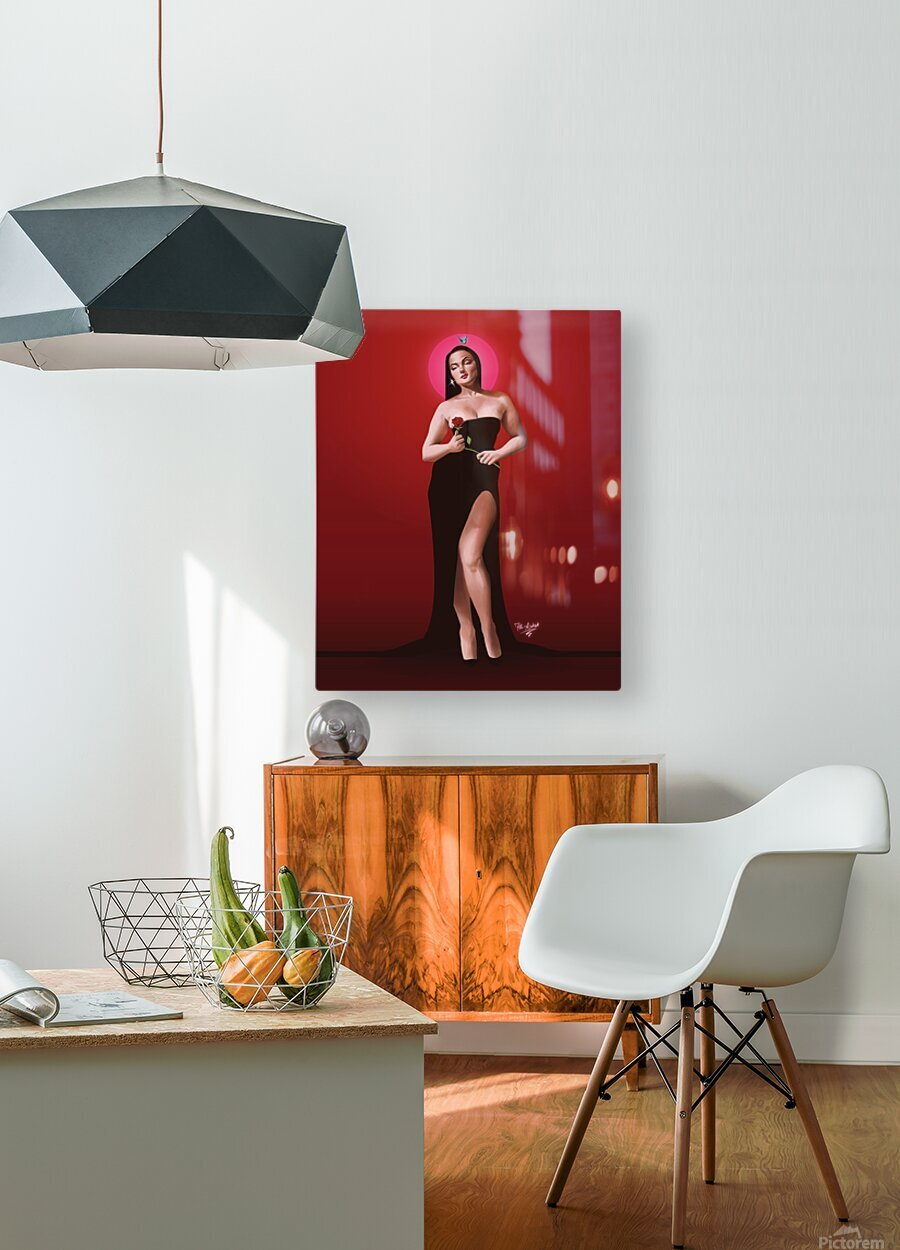 Sassy Valentine  HD Metal print with Floating Frame on Back