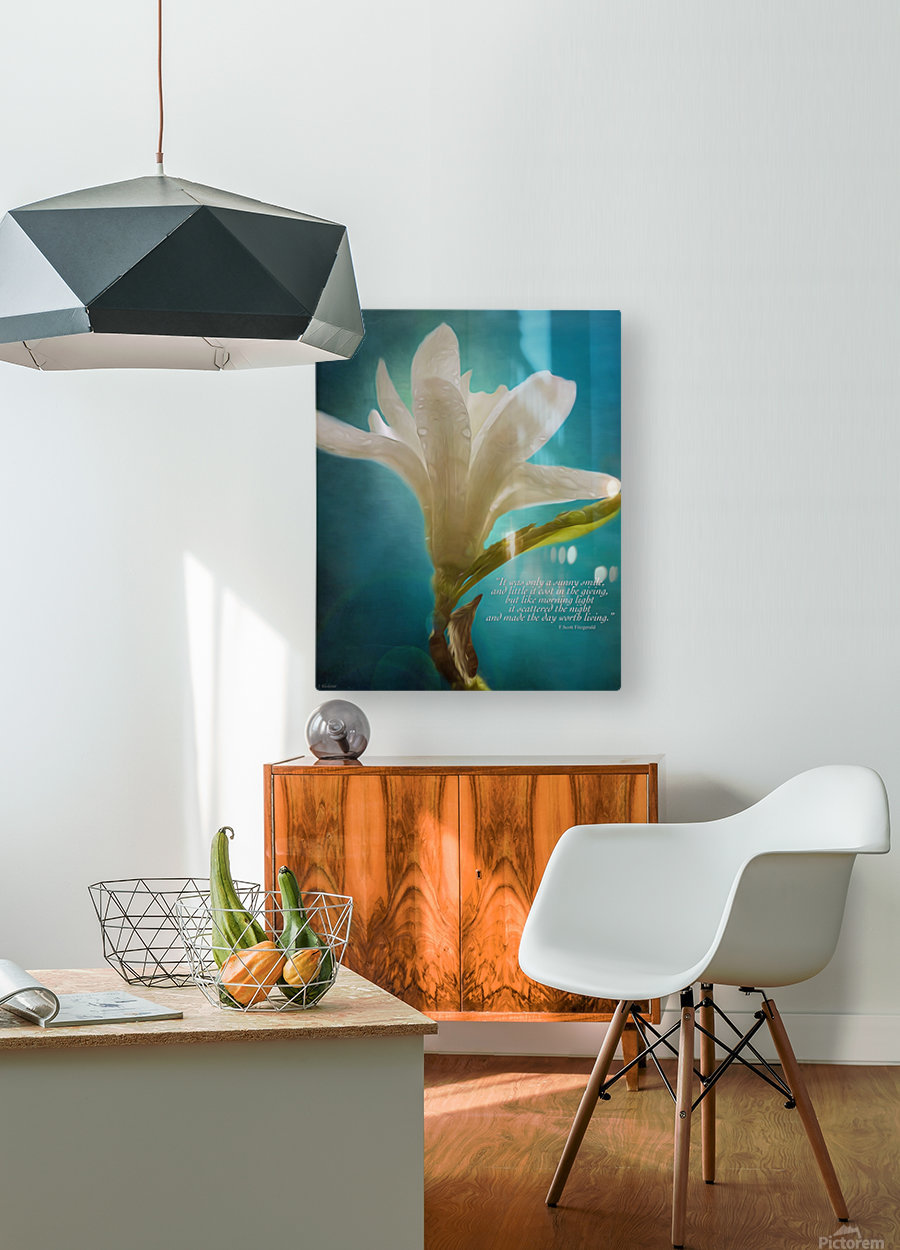 Like Morning Light - Flower Art by Jordan Blackstone  HD Metal print with Floating Frame on Back